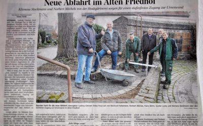 """Neue Abfahrt im Alten Friedhof: Bericht """"Die Kitzingen"""" vom 29.12.2015"""